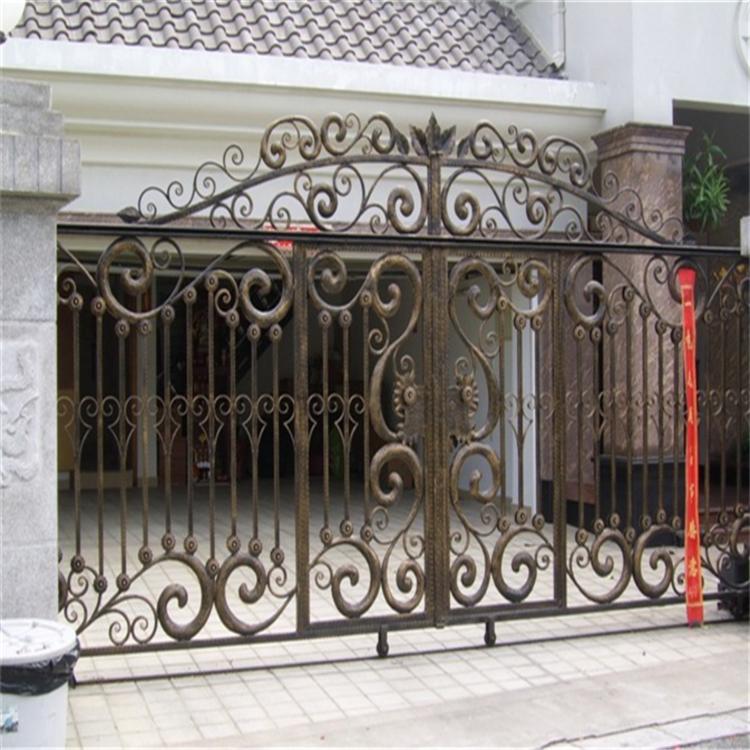 ***設計 歐式別墅鐵藝大門 庭院門進戶門防盜門圍墻金屬大門定