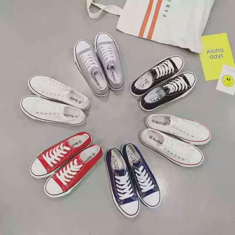 工廠直供學生帆布鞋單鞋休閑鞋  學生情侶款帆布鞋 廠家批發