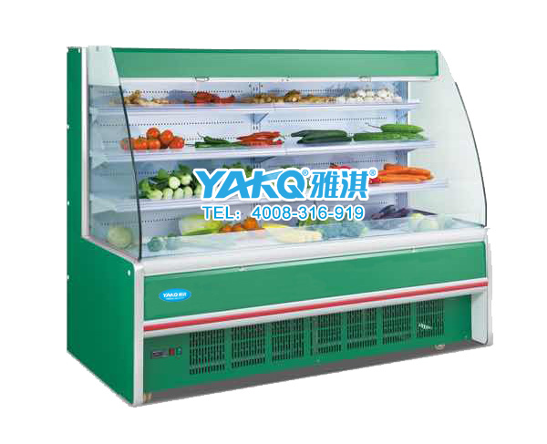 水果超市風幕柜 雅淇冷藏柜價格 廣東保鮮柜廠家***
