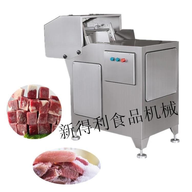 鲜肉冻肉切块机 新得利制造***DQ-400切块机