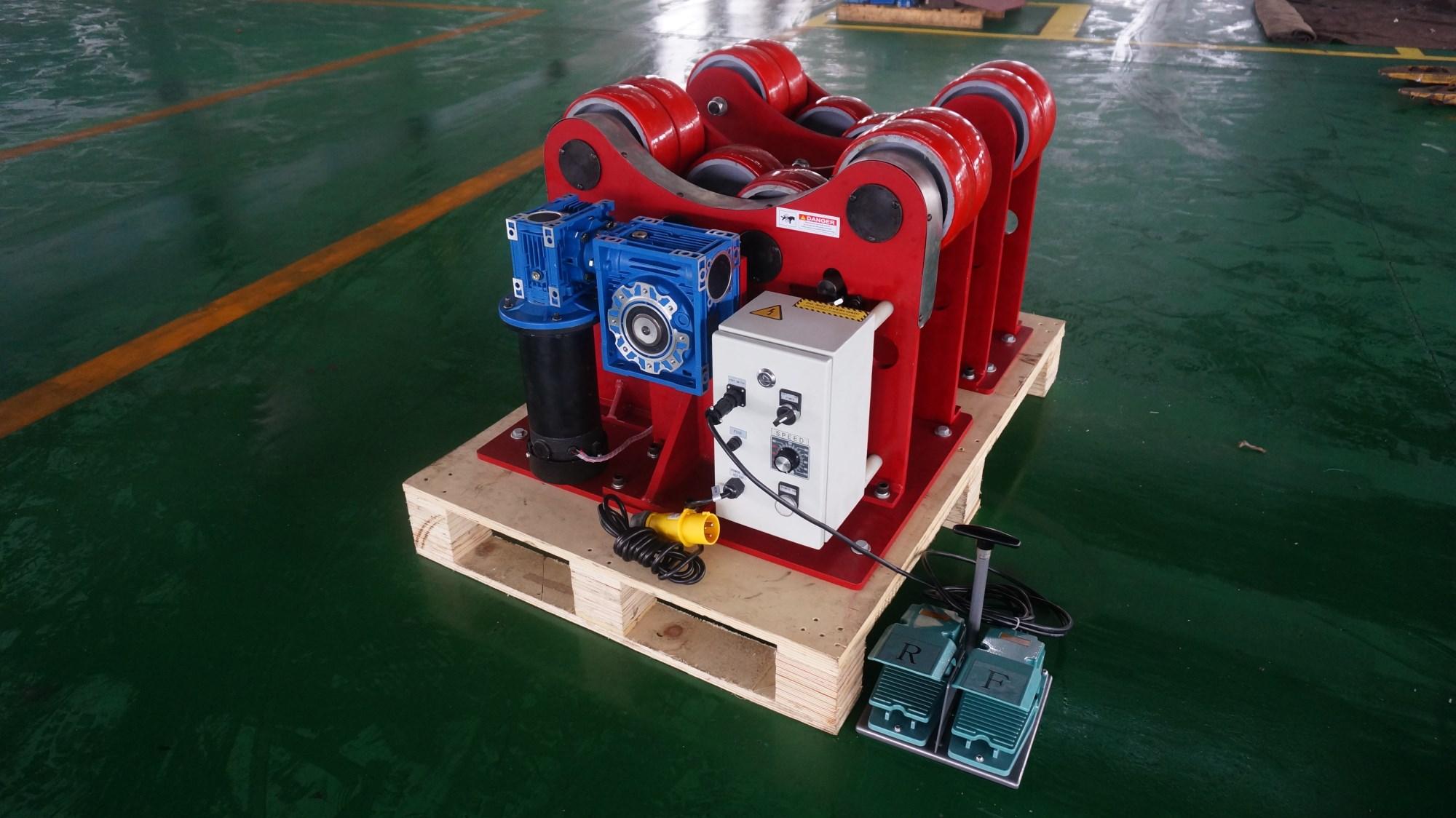 南京群信4噸滾輪架、***口滾輪架、歐盟CE認證焊接滾輪架