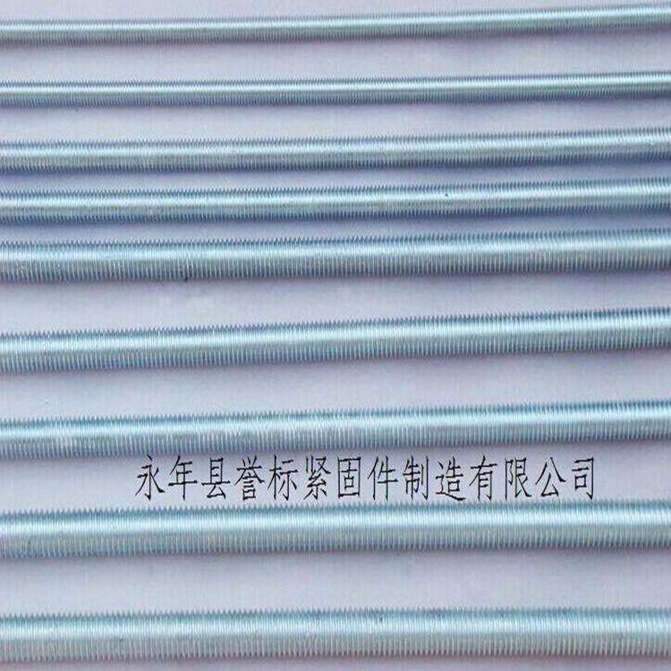 全螺紋吊桿-***絲杠廠家-全螺紋螺柱鍍鋅現貨供應
