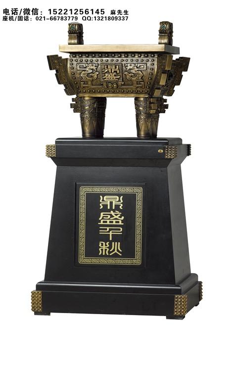 杭州公司开业祝贺摆件,公司大厅装饰摆件定做、落地鼎摆件青铜鼎