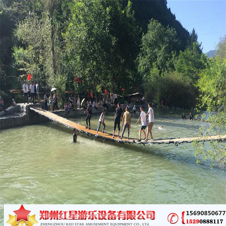 抖音同款網紅橋戶外大型景區水上樂園生態園農莊可定制安裝搖擺橋