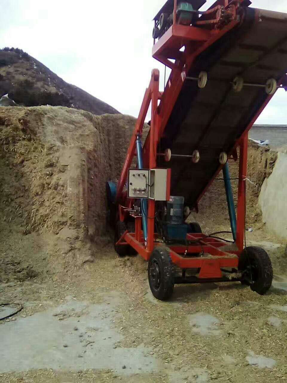 牧场饲料设备 移动式青贮取料机 液压式青储饲料铲草机
