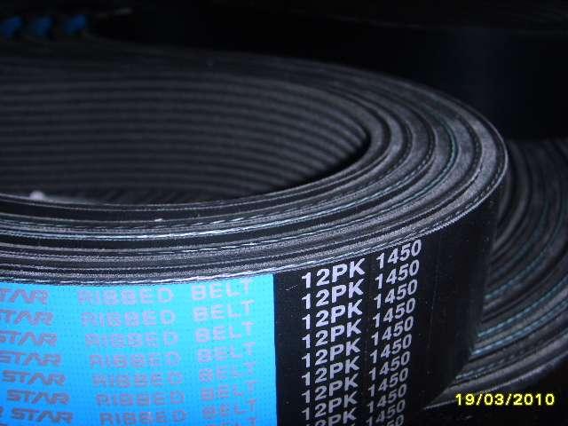 日本空壓機皮帶12PK1450多楔帶12PK1510多溝帶