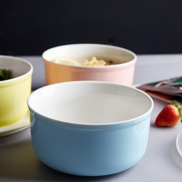 陶瓷保鲜碗带盖套装微波炉保鲜盒实用便当泡面碗三件套