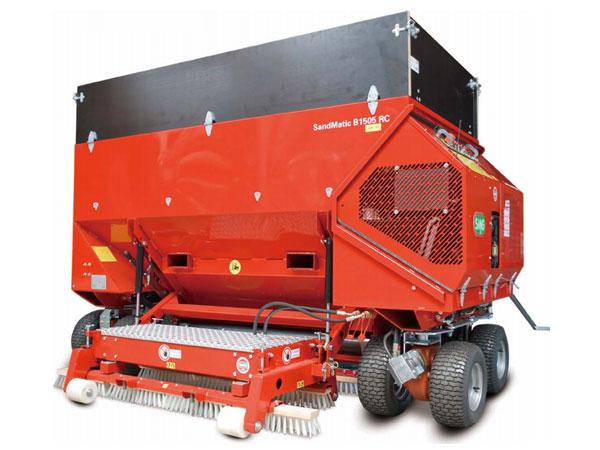 德國進口SMG人造草坪場地充砂充顆粒梳草吸塵維護保養施工設備