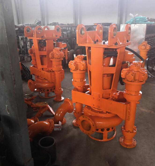 8寸帶鉸刀液壓渣漿泵(挖掘機抽沙泵)