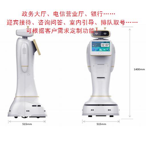 奧拓智能服務機器人小奧 政務大廳銀行營業廳迎賓接待排隊取號