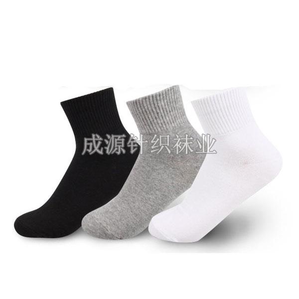广东佛山袜子加工厂订做运动袜 纯棉运动袜