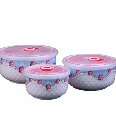 饭盒便当盒陶瓷碗批发 带盖陶瓷 促销礼品 保鲜盒