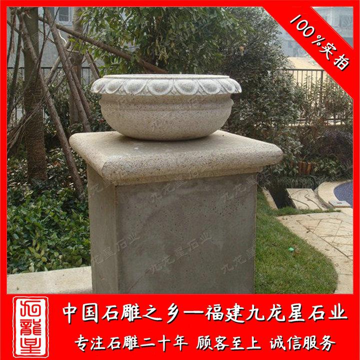 欧式石雕花盆设计 现代景观花钵价格