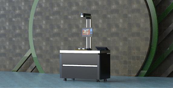 戈子科技智慧食堂单通道视觉结算台