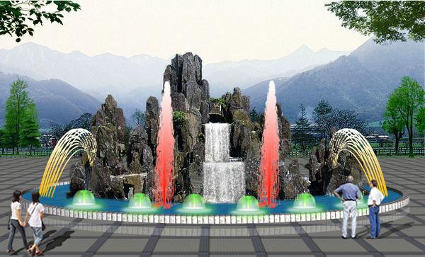 新市景区公园假山制作厂家_景区公园假山设计_新市假山设计