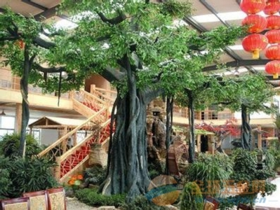 呼兰假树厂家饭店假树安装 呼兰水泥假树支持定制