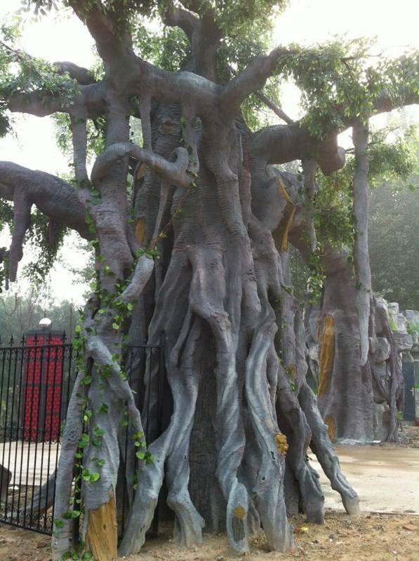 寒亭假树厂家仿真假树报价 寒亭水泥假树设计精美