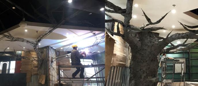 復興假樹廠家假樹假山定制 復興水泥假樹可安裝施工