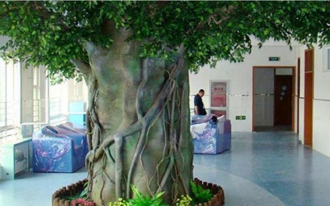 高平市假树厂家水泥榕树定制 高平市水泥假树设计制作