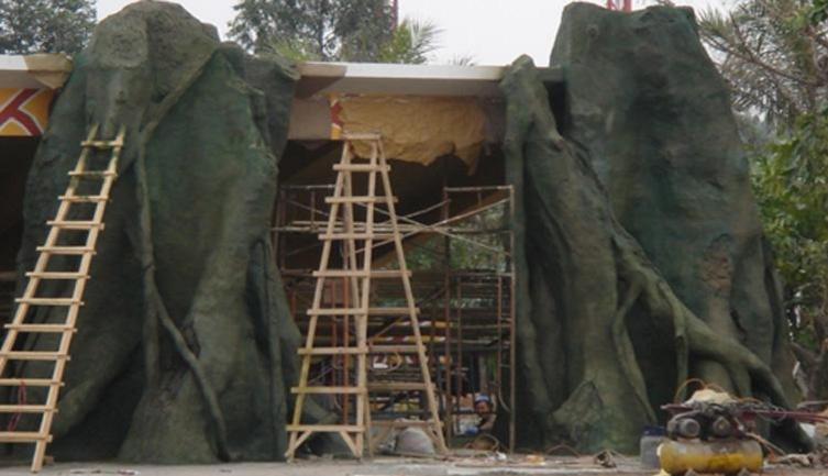 膠州市假樹廠家飯店假樹價格 膠州市水泥假樹批發設計