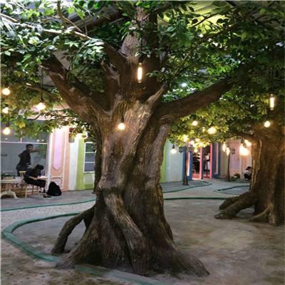 鸡东县假树厂家小区假树图片 鸡东县水泥假树施工公司