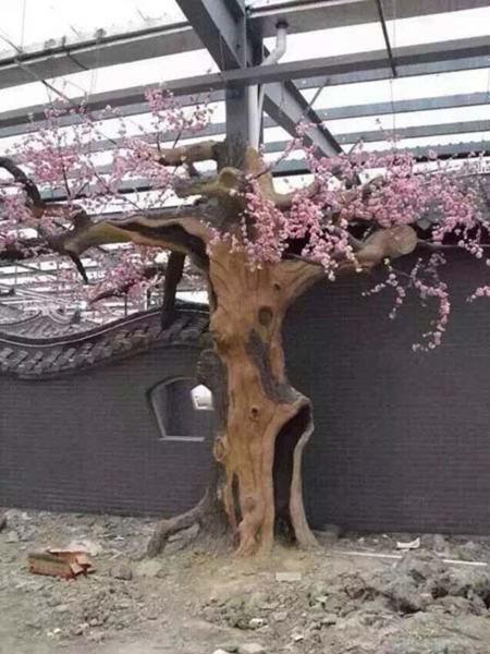五原縣假樹廠家仿真假樹設計 五原縣水泥假樹產地