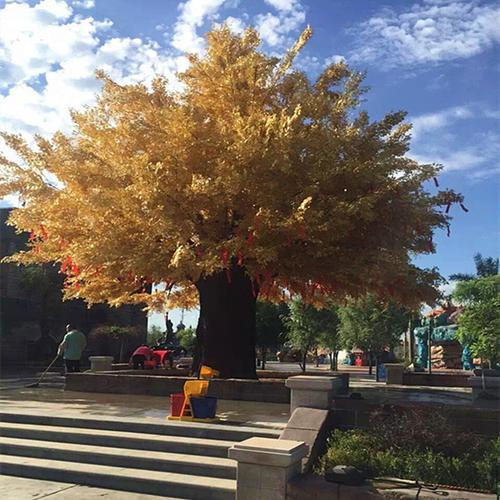 新樂市假樹廠家主題餐廳假樹公司 新樂市水泥假樹支持定制