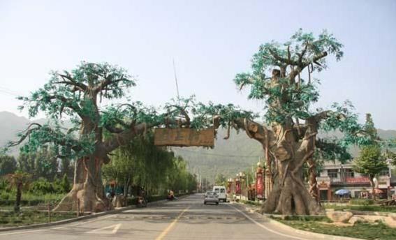 白云鄂博假樹廠家村口假樹供應 白云鄂博水泥假樹產地