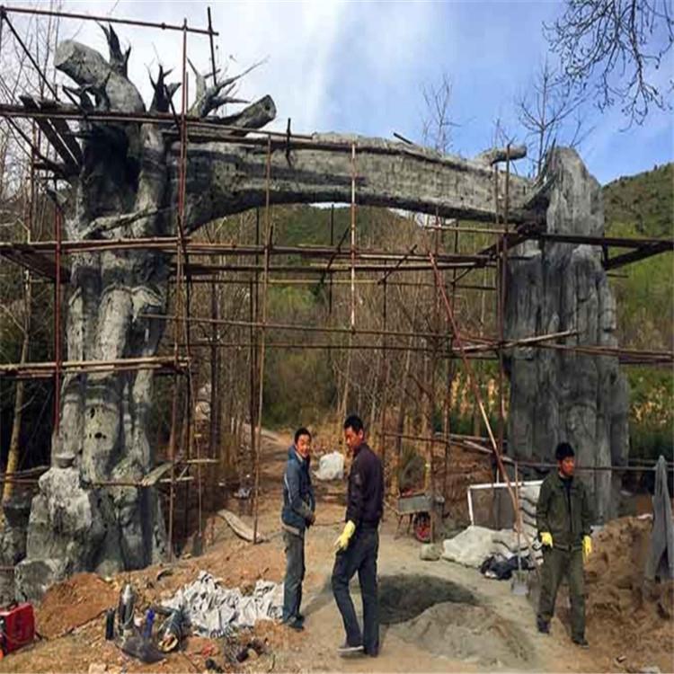 紅崗假樹廠家飯店假樹施工隊 紅崗水泥假樹施工安裝