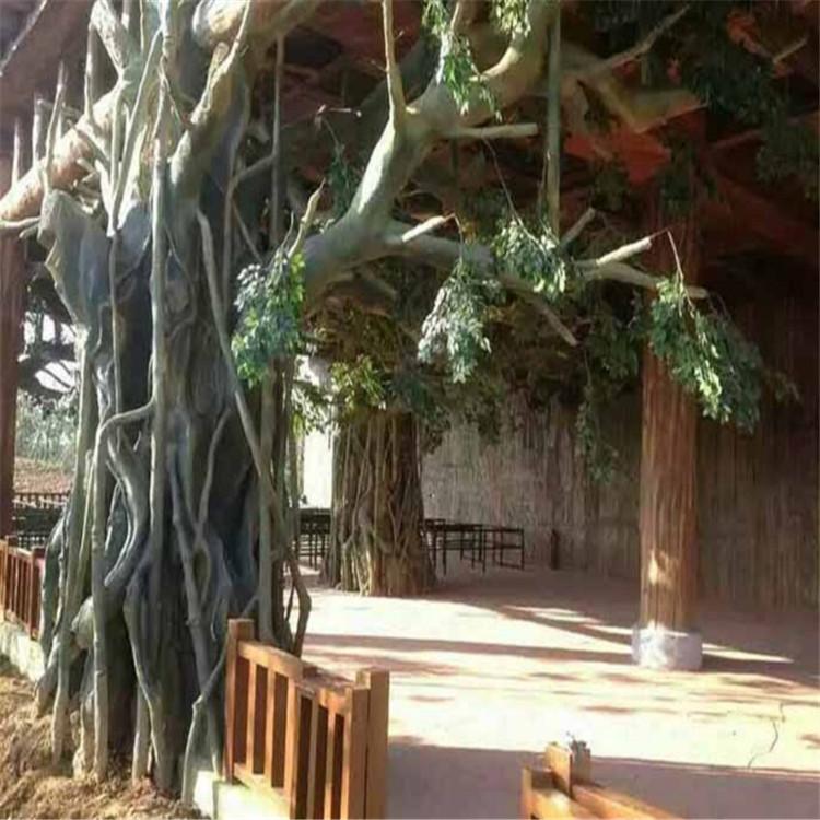 多倫縣假樹廠家別墅假樹圖片 多倫縣水泥假樹產地供應