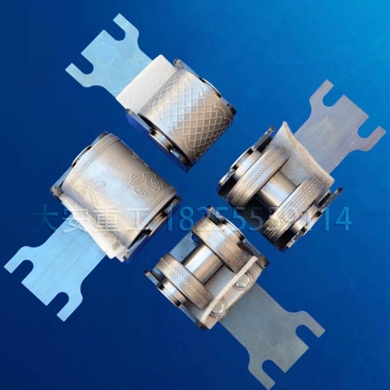 大安重工復卷機壓花鋼套防銹壓花清晰可定制花紋加字