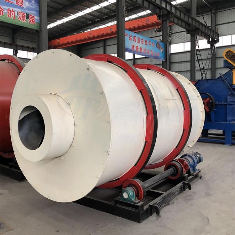 大型石英砂礦粉三筒烘干機回轉式鋸末干燥機