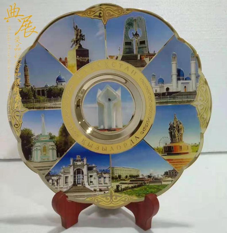 公司20周年經銷商留念品,純銅浮雕表彰獎牌,可印公司圖片