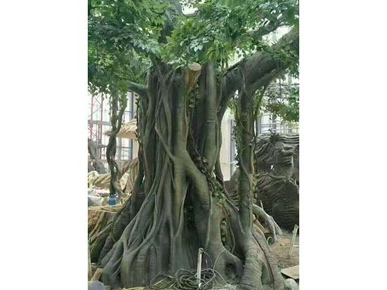 巴里坤室內假樹制作_天成怡景假樹工程_上門安裝