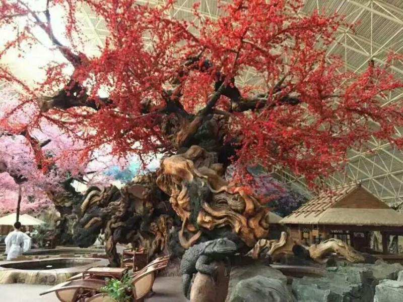 和田室內仿真樹_室內仿真樹制作_天成怡景景觀造景工程