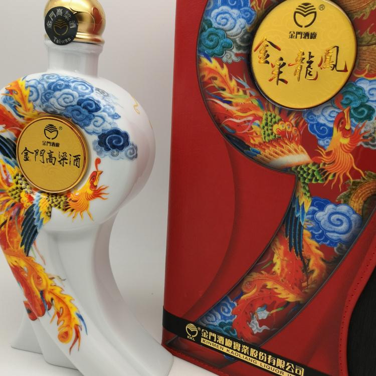 遼寧省金采龍鳳臺灣金門高粱酒58度禮盒