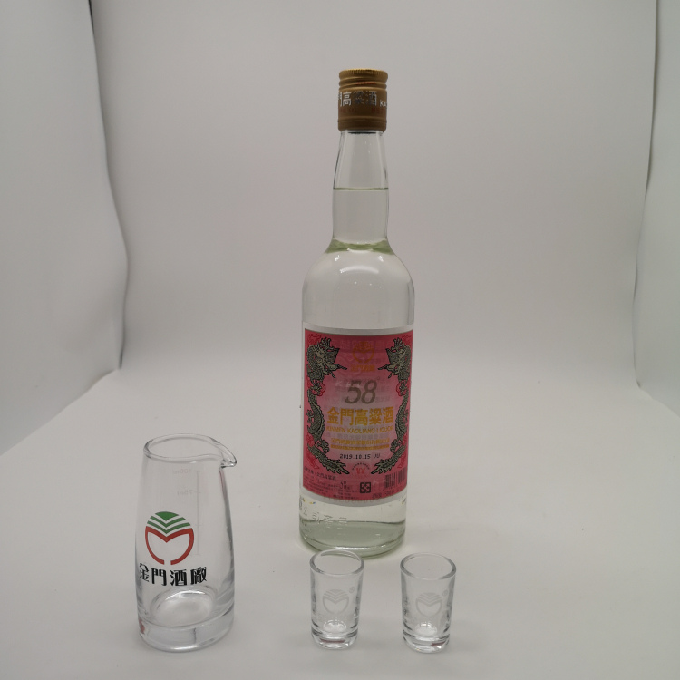 晉江市臺灣600毫升紅標金門地區酒玻璃瓶裝