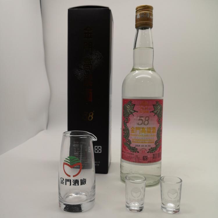 龍巖市金門高粱酒白金龍58度750ml紅標六瓶裝
