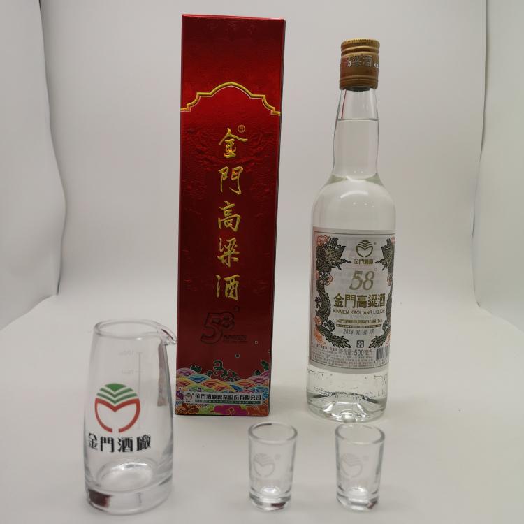 江苏金门高粱酒 58度600ml 台泉高粱酒红标高度白酒