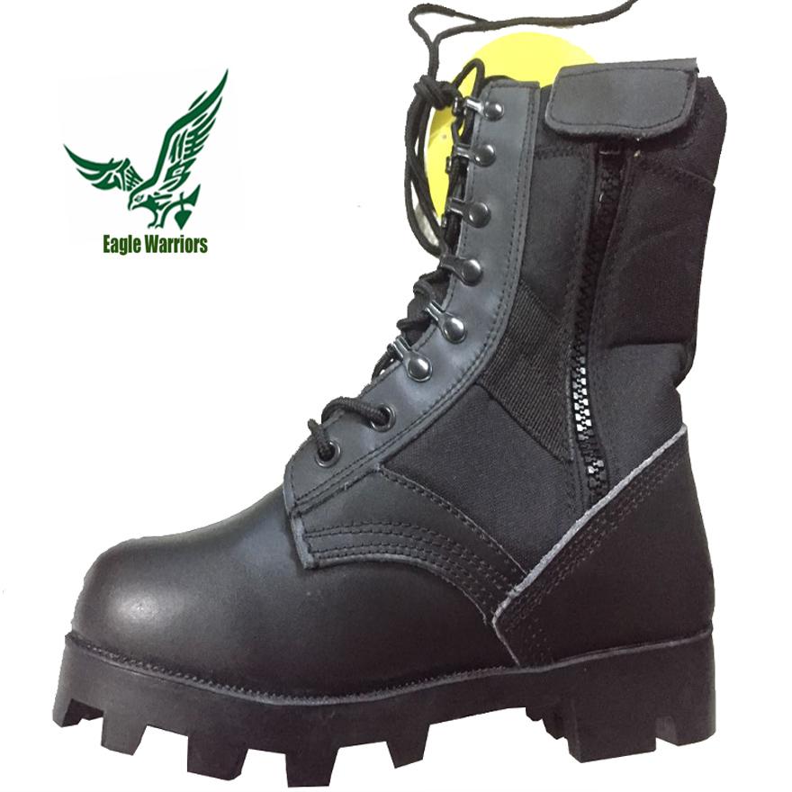 外贸巴拿马牛皮训练靴工厂