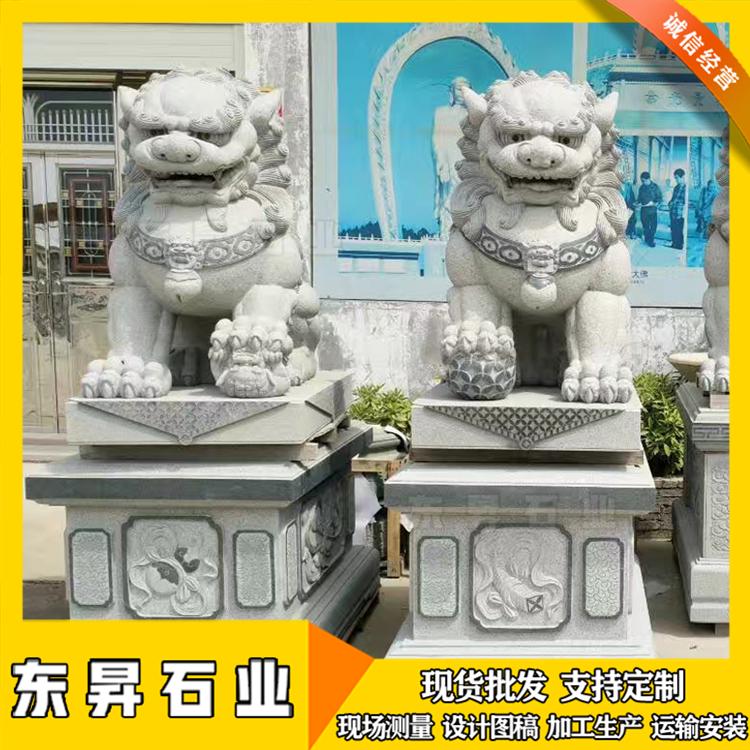 惠安石雕狮子 仿古石狮子 石雕狮子图片