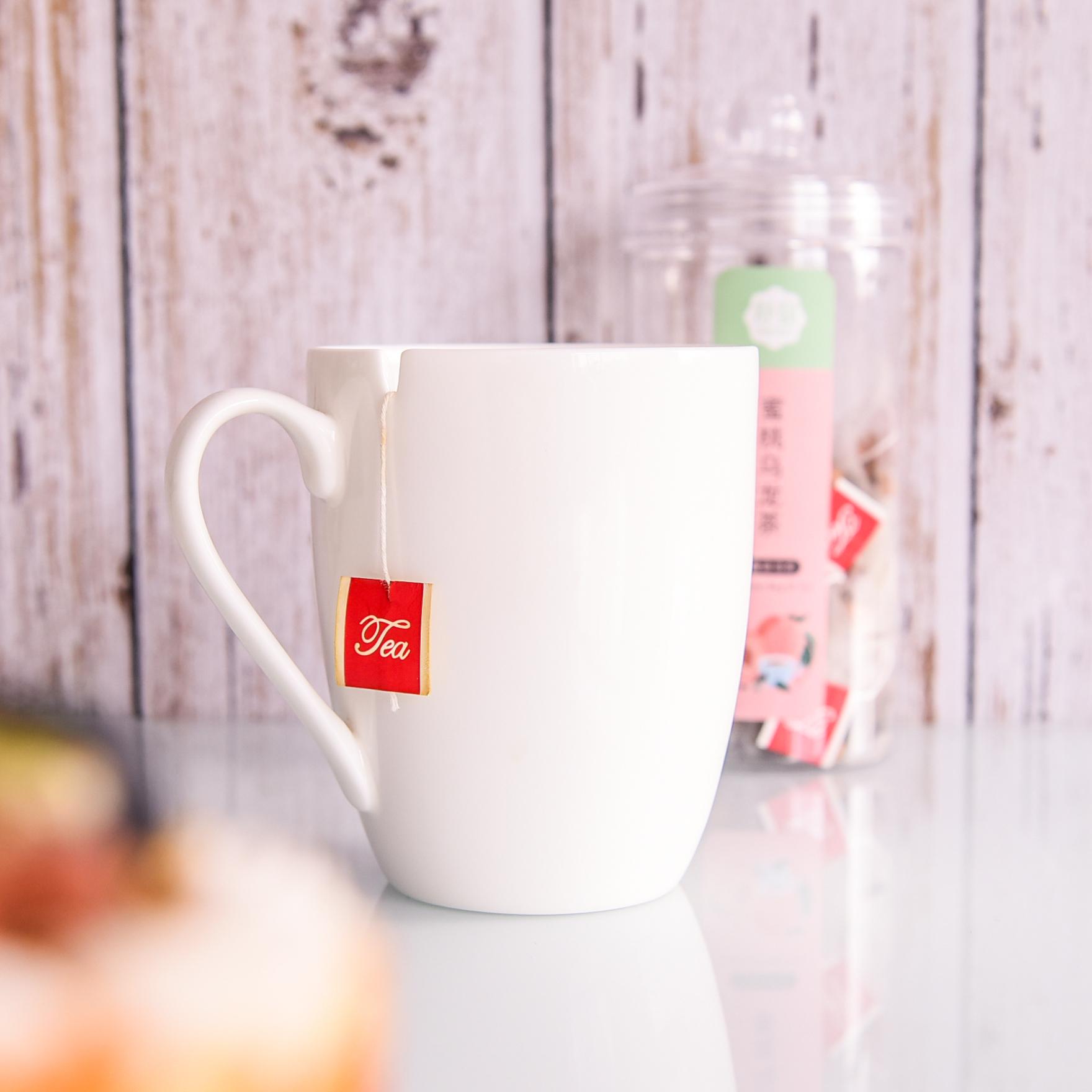 達美瓷業陶瓷廣告禮品伴手禮用花茶杯純白骨瓷馬克杯