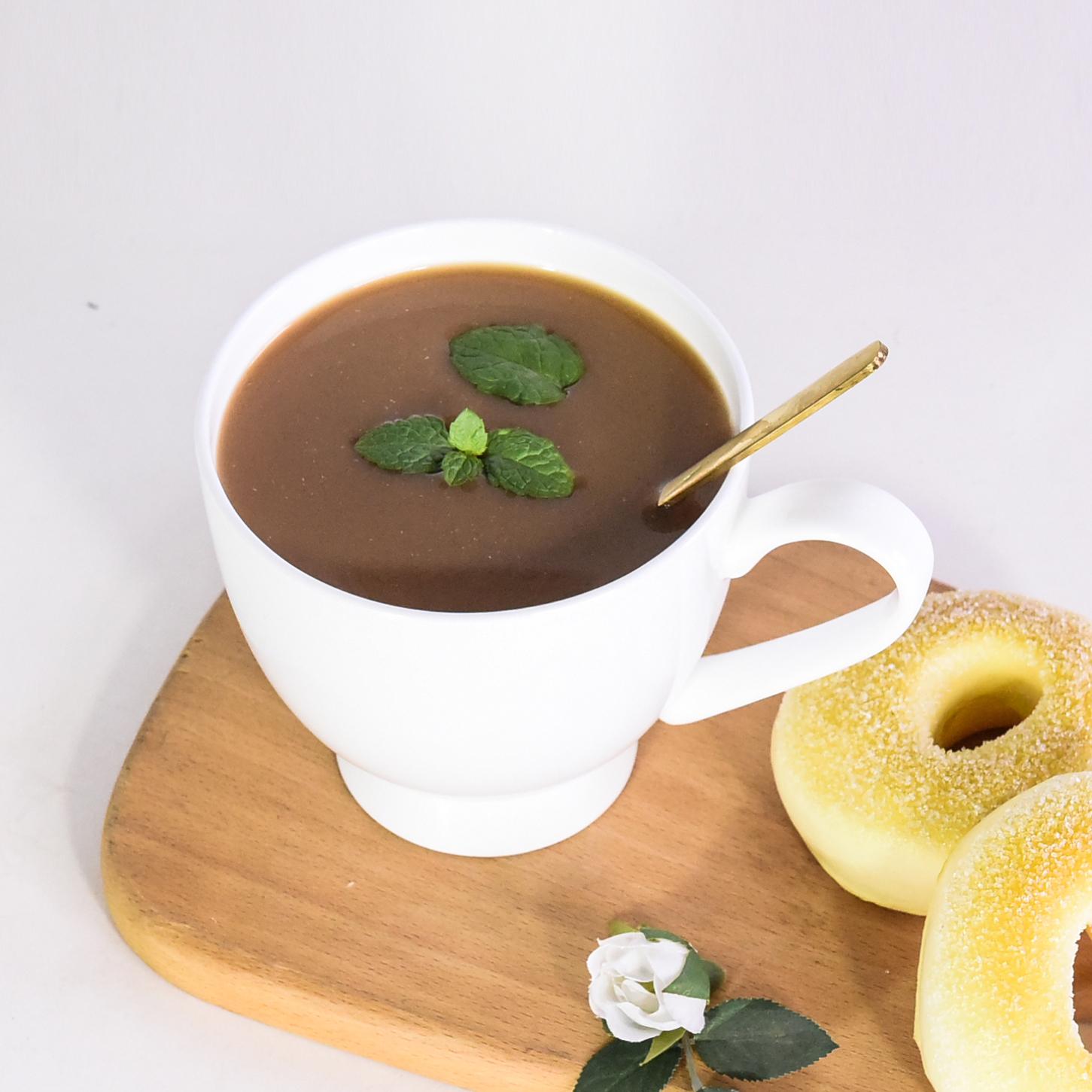 達美瓷業大容量咖啡水杯可印畫面簡約白色骨瓷馬克杯