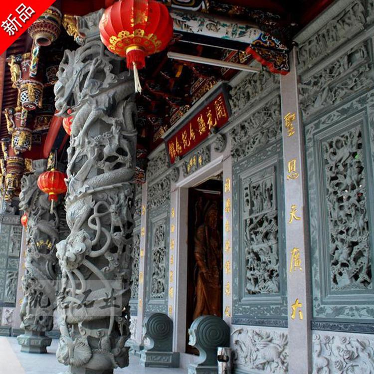 出售石雕龍柱 盤龍柱 寺廟祠堂擺件 惠安石雕廠家