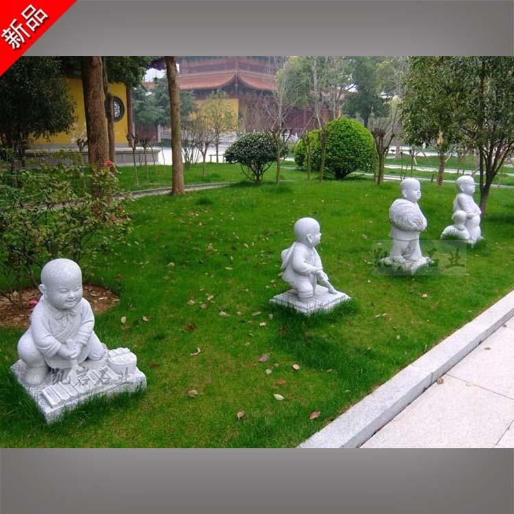 廠家供應 石雕小沙彌 石雕小和尚雕塑 惠安石雕廠