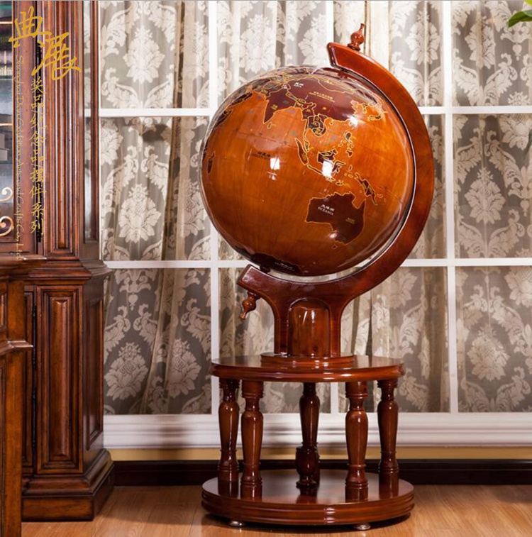 公司慶典商務落地禮品,母校紀念品訂做,木質落地地球儀