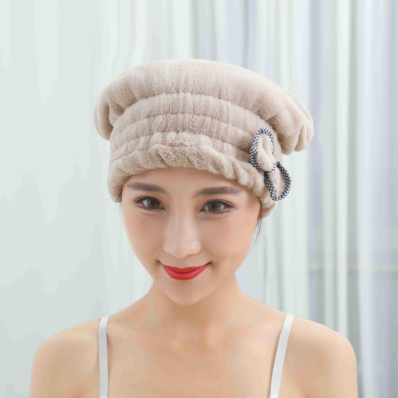 珊瑚绒干发帽公主帽吸水不掉毛家用学生加厚厂家直供