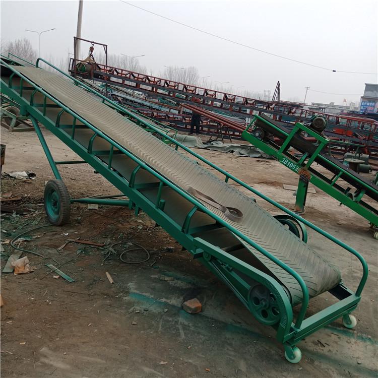 阜陽草捆輸送機斜坡提升糧食傳輸機 飼料輸送皮帶機