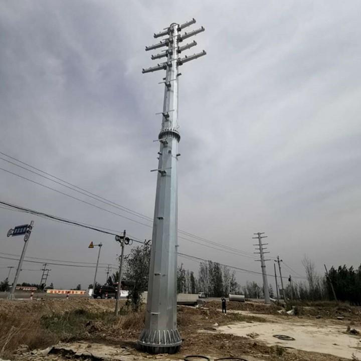 供应35KV电力钢杆价格转角钢管杆厂家直线高压杆塔